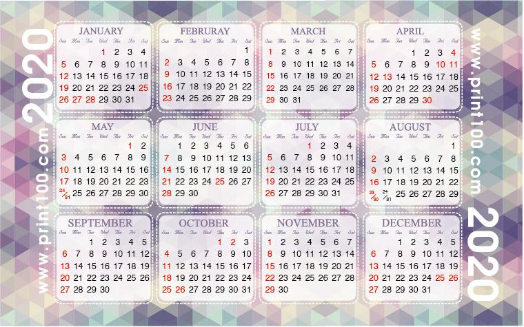 咭片皇 年曆咭設計: A 05