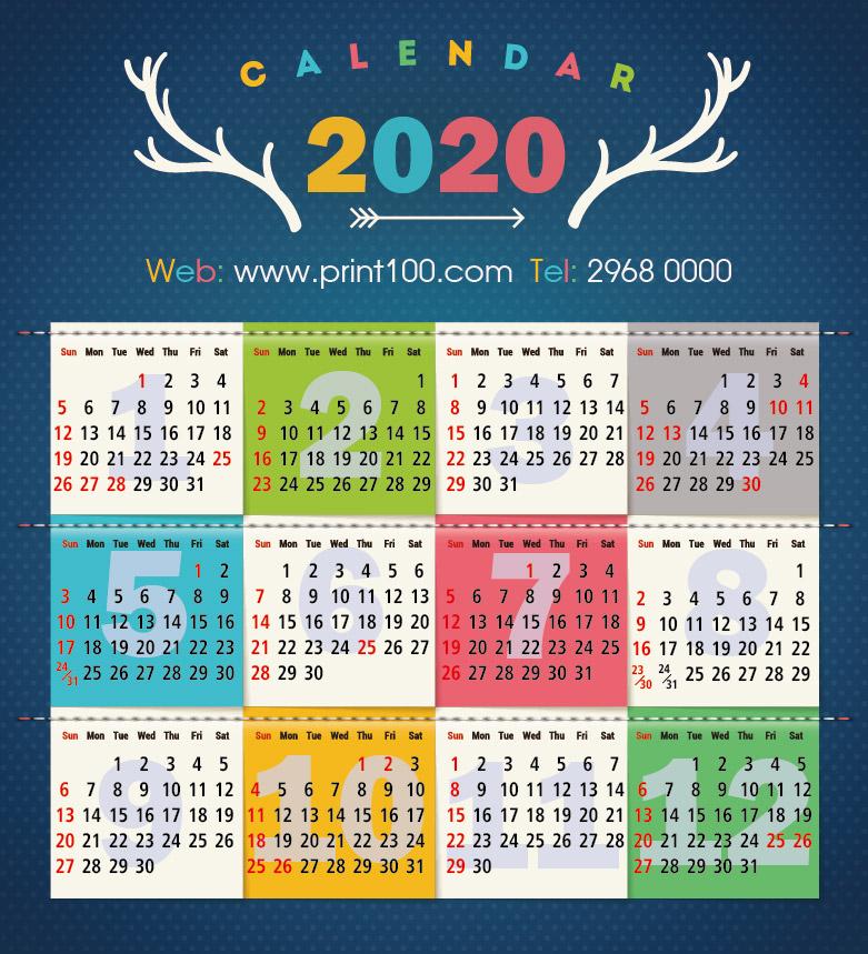 咭片皇 年曆咭設計: B 02