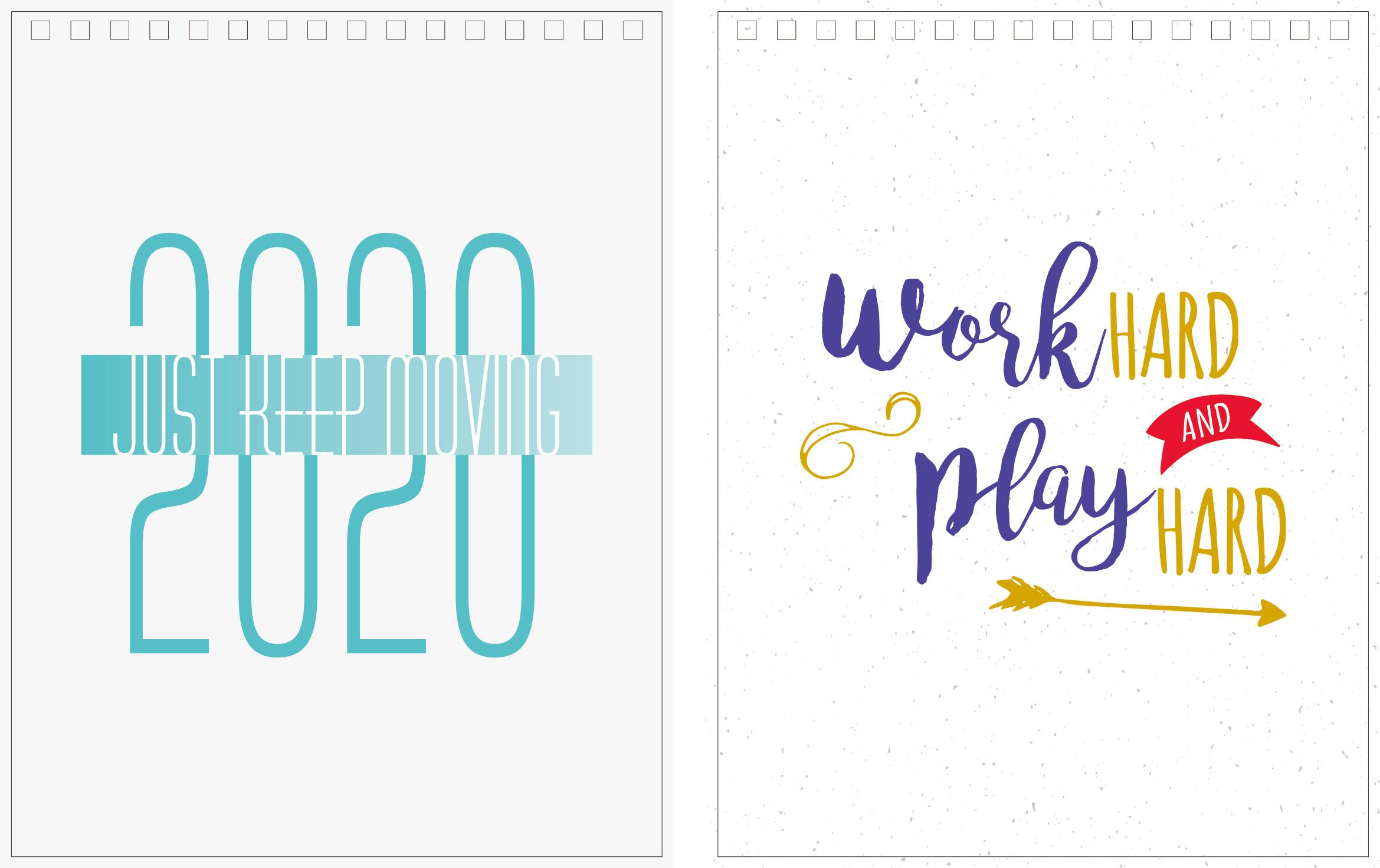 Print100 Desk CalendarA023