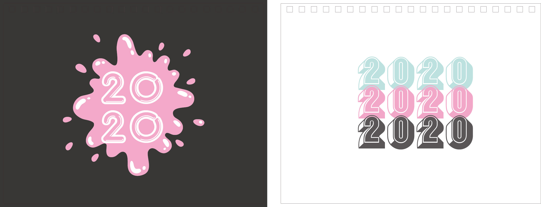 Print100 Desk CalendarB018