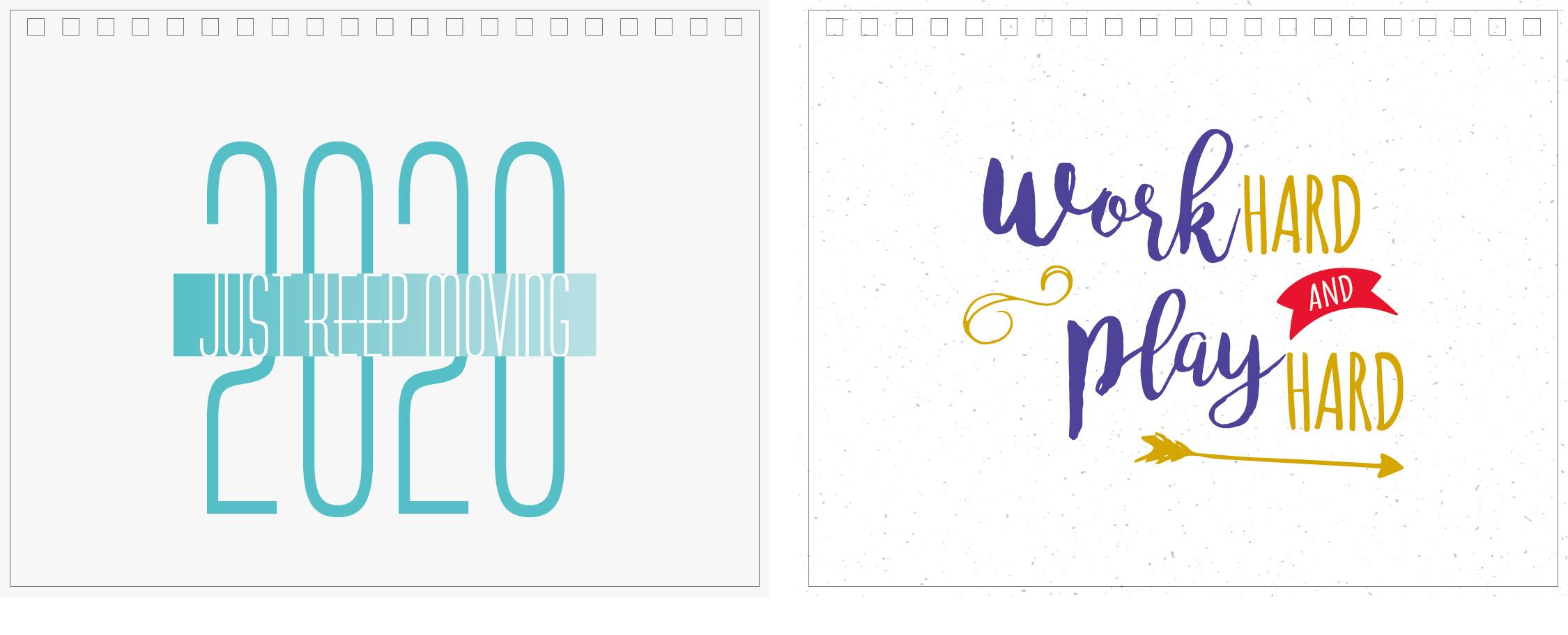 Print100 Desk CalendarB022