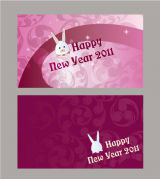 新年咭, 設計, 免費模板