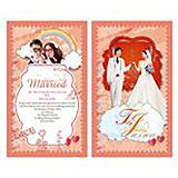 結婚咭設計, 免費模板